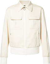 Neil Barrett zipped pocket jacket - men - Cotton/Polyester/Polyurethane/Viscose - 44