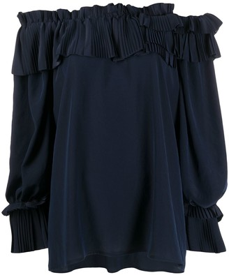 P.A.R.O.S.H. pleated detail top