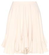 Chloé Ruffled Silk Miniskirt