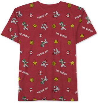 Nintendo Big Boys Mario Icon Graphic T-Shirt