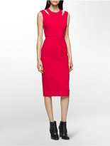 Calvin Klein Cut-Out Shoulder Sheath Dress