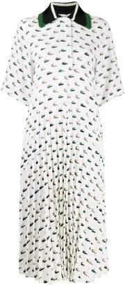 Lacoste logo polo shirt dress