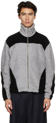 GmbH Grey and Black Fleece Two-Tone Jacket