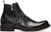 Officine Creative Black Ikon 39 Zip Boots