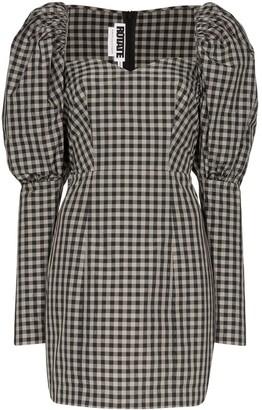 ROTATE gingham mini dress