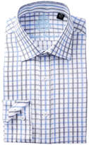 English Laundry Check Pattern Trim Fit Dress Shirt