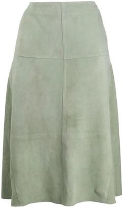 Arma high-rise A-line skirt