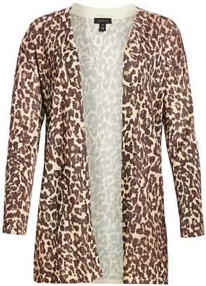 Saks Fifth Avenue Lurex Animal Print Cardigan