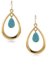 Lauren Ralph Lauren Paradise Found Gypsy Hoop Pierced Earrings