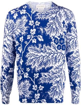 Alexander McQueen Ivy Creeper print jumper