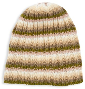 Portolano Striped Knit Slouchy Beanie