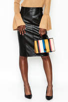 Do & Be Do-Be Leather Zip Skirt