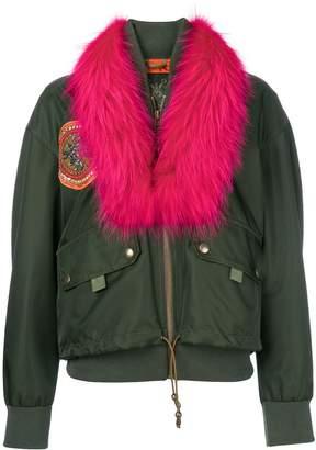 Mr & Mrs Italy detachable collar bomber jacket