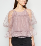 Thumbnail for your product : New Look NA-KD Spot Organza Blouse