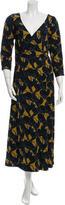 Marc Jacobs Panther Printed Wrap Maxi Dress