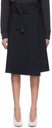 A Plan Application A-Plan-Application Blue Denim Wrap Skirt