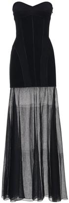 Thierry Mugler Strapless Knit Sheer Long Dress