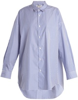 Junya Watanabe Oversized striped cotton-poplin shirt