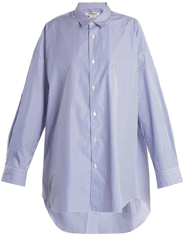 Junya Watanabe Oversized striped cotton-poplin shirt