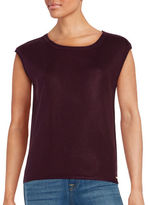 Calvin Klein Ribbed-Knit Shell