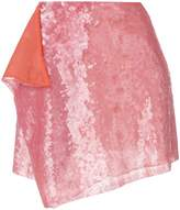 Alberta Ferretti asymmetric sequins skirt
