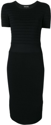 Emporio Armani Ribbed Knit Fitted Dress