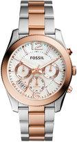 Fossil Women's Perfect Boyfriend Two-Tone Stainless Steel Bracelet Watch 39mm ES4135