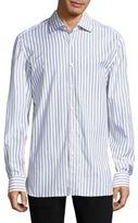 Isaia Striped Regular Fit Shirt