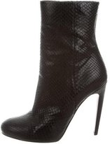 Gucci Snakeskin Round-Toe Ankle Boots
