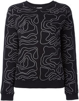 Zoe Karssen embroidered sweatshirt - women - Cotton/Polyester - XS