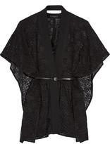 Roland Mouret Snagsby textured cotton-blend cape