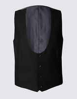 M&S Collection Black Tailored Fit Waistcoat