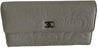 Chanel Grey Leather Wallets