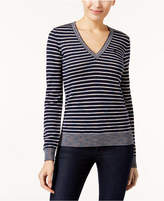 Lacoste Striped V-Neck Sweater