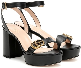 Gucci Marmont leather platform sandals