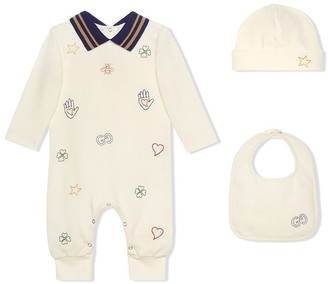 Gucci Kids Three-Piece Babygrow Set