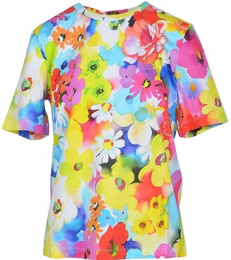 Love Moschino Floral Printed Cotton Women's T-Shirt