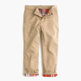 J.Crew Boys' flannel-lined cozy chino pant