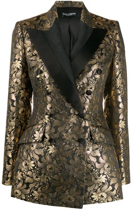 Dolce & Gabbana Double-Breasted Jacquard Blazer