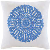 "Echo Ravi 18"" x 18"" Embroidered Cotton Square Decorative Pillow"