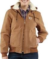 Carhartt Women's 100815 Women's Weathered Duck Jacket-Sherpa Lined-