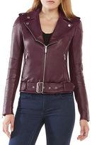 BCBGMAXAZRIA Miley Leather Moto Jacket
