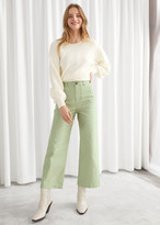 And other stories Wide Leg Cotton Canvas Trousers