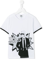Karl Lagerfeld printed T-shirt - kids - Cotton - 8 yrs
