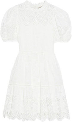 Ulla Johnson Simone Flared Broderie Anglaise Cotton-blend Dress