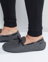 Totes Moccasin Slippers In Check