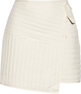 Tibi Juna wrap-effect quilted silk mini skirt