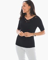 Chico's Cut-Out V-Neck Pullover
