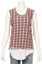 TEE LAB By FRANK & EILEEN American Plaid Muscle Tank