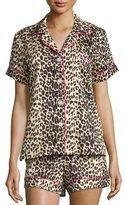 BedHead Wild Thing Printed Shorty Pajama Set, Leopard, Plus Size